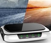 空氣淨化器 太陽能車載空氣凈化器汽車用內負離子消除異味甲醛香薰加濕器  夢藝家