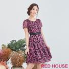 【RED HOUSE 蕾赫斯】圓圈透膚洋...