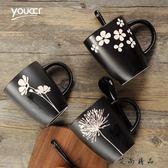 和風格調手繪花朵陶瓷杯子馬克杯