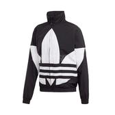 adidas 外套 Big Trefoil Track Jacket 黑 白 男款 風衣外套 運動休閒 【PUMP306】 FM9892
