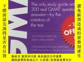 二手書博民逛書店新東方罕見VERBAL REVIEW 語文 GMAT官方指南Y3
