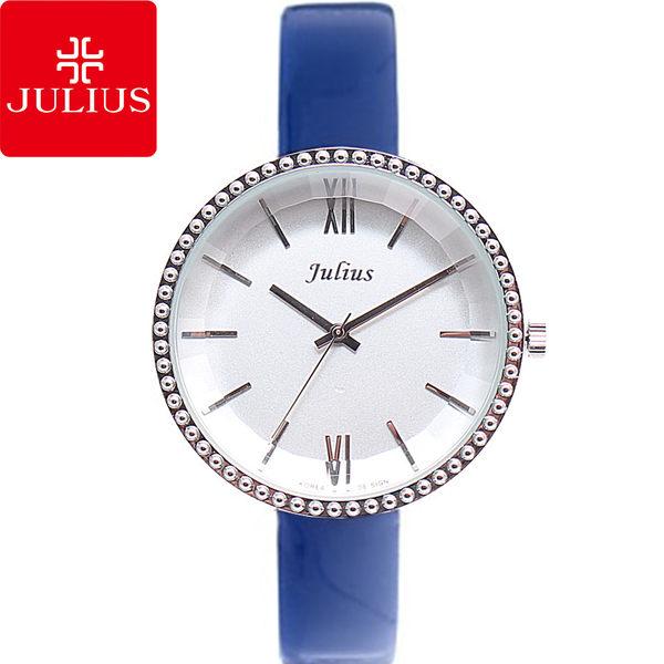 JULIUS 聚利時 蓓蓓魯多漆皮錶帶腕錶-藍色/36mm 【JA-741A】