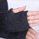 羊絨手臂套袖套針織假袖子女秋冬季長款手套護胳膊保暖羊毛線加厚 薇薇