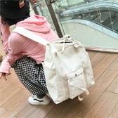 書包書包女韓版原宿ulzzang 高中學生軟妹校園後背包潮流簡約帆布背包台北日光