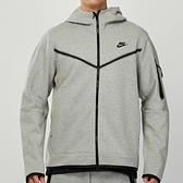 Nike Tch Flc Hoodie FZ WR 男款 灰 連帽 雙開拉鍊 休閒 外套 CU4490-063