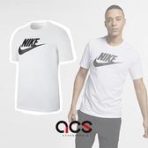 Nike 短袖T恤 Sportwear Logo TEE 白 黑 男款 勾勾 基本款 短T 純棉 【ACS】 AR5005-101