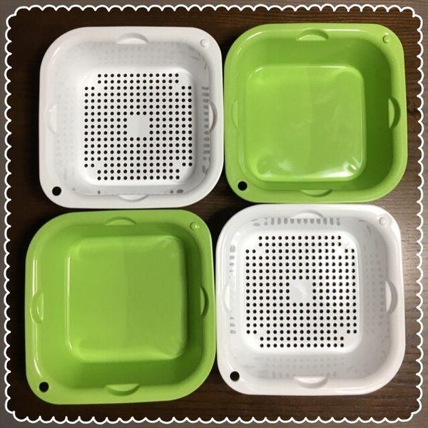 可圍波瀝水籃組料理盆沙拉脫水器甩水779212通販屋
