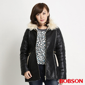 BOBSON 女款麂皮貼合毛絨外套(34113-88)
