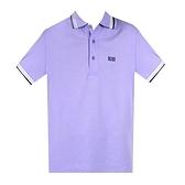 【南紡購物中心】HUGO BOSS 經典標誌配色男款POLO衫-淺紫