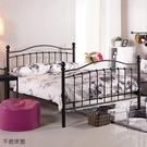 【森可家居】凱特兒5尺黑色鐵床床台 8JX376-2 雙人 床架 北歐鄉村風