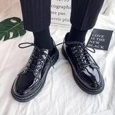 朱掌櫃馬丁靴情侶新款復古英倫風黑色小皮鞋百搭學生黑色潮鞋 維多