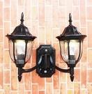 超實惠 小區室外壁燈 戶外陽台圍牆柱燈歐式 門口花園小區防水庭院燈雙頭