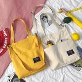 斜背包包包女原宿風斜背帆布包女學生韓版側背手提百搭簡約布袋交換禮物