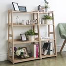 (免運) LOXIN 日式木質四層斜面架-寬版 層架 收納架 置物架 書架 收納櫃 置物櫃【BY1634】