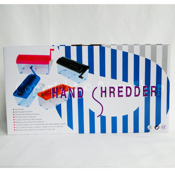 【YourShop】手動式果凍迷你桌上型碎紙機 ~A4紙可用~