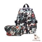 B.S.D.S冰山袋鼠 - 楓糖瑪芝 - 經典大容量插袋後背包+側背小包2件組 - 熱帶雨林【0015+001RF】