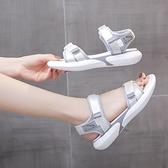 2021年新款夏季女鞋ins潮軟底輕便平底孕婦鞋百搭學生運動涼鞋女『潮流世家』