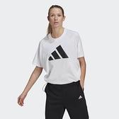 Adidas W ST LOGO TEE 女款白色休閒短袖上衣-NO.GL9507