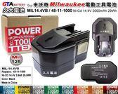 ✚久大電池❚ 米沃奇 Milwaukee 電動工具電池 48-11-1000 14.4V 2000mAh 29Wh