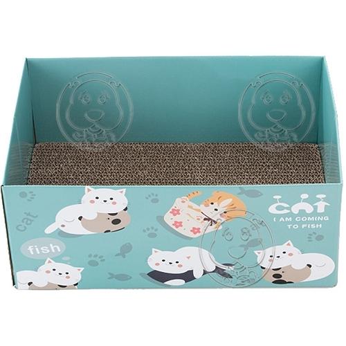 【🐱🐶培菓寵物48H出貨🐰🐹】DYY》可愛貓咪圖案磨爪貓窩紙箱貓房子貓抓板(多種款式)