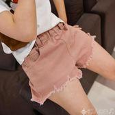 兒童褲子女童牛仔短褲夏破洞中大童兒童夏季韓版白色棉外穿百搭寬鬆熱褲子 【时尚新品】