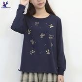 【秋冬新品】American Bluedeer - 鹿刺繡長袖T 二色