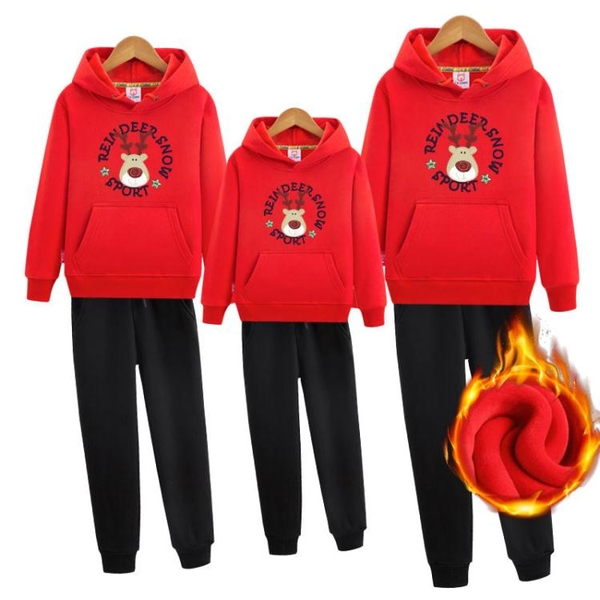 聖誕節聖誕親子裝 親子冬裝 新潮全家裝圣誕鹿衛衣套裝厚快速出貨
