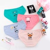 【B00644-2】動物表情印花棉質內褲。五色