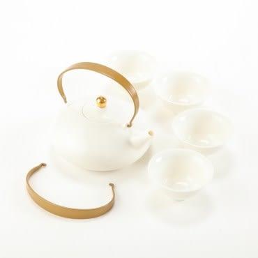 新唐春美人壺茶具組 緻白