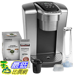 [8美國直購] 咖啡機 Keurig K-Elite C Single Serve Coffee Maker, 15 K-Cup Pods and My K-Cup Reusable Coffee Filter A2881975