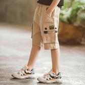 男童工裝短褲夏裝薄款中大童運動寬鬆外穿純棉兒童夏天休閒五分褲 FX5317 【MG大尺碼】