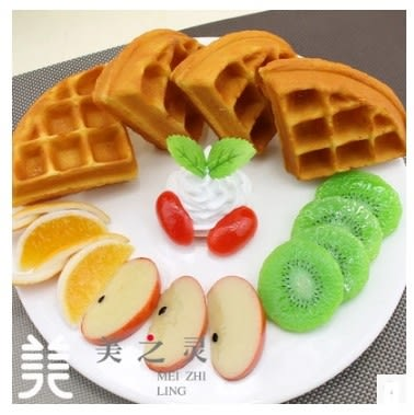 [協貿國際]仿真多種水果鬆餅模型