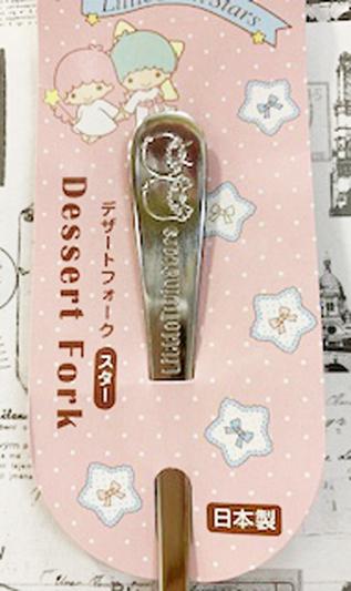 【震撼精品百貨】Little Twin Stars KiKi&LaLa_雙子星小天使~三麗鷗雙子星日本不銹鋼叉子(18CM)#16951