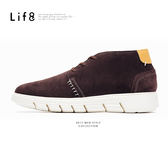Casual 牛反毛 太空超延展手縫沙漠短靴(附雙鞋帶)-咖色【09681】