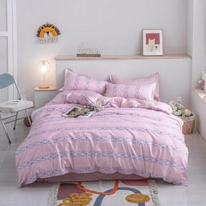 BUTTERFLY-柔絲絨三件式兩用被床包組-七彩花粉(單人加大)