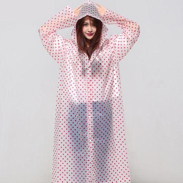 旅行波點雨衣女成人外套韓版兒童男戶外徒步雨披單人長版防雨便攜