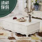 【新竹清祥傢俱】FLT-04LT01-法式象牙烤白石面茶几