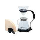 金時代書香咖啡 HARIO V60玻璃濾杯支架咖啡壺組 2~5杯 VAS-8006-G