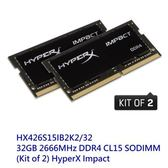 金士頓 專用記憶體 【HX426S15IB2K2/32】 新版 Imac DDR4-2666 16GB x2 新風尚潮流
