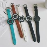 手錶 時來運轉旋轉蟲洞概念手錶超薄抖音同款個性男女學生潮流韓版個性 美物