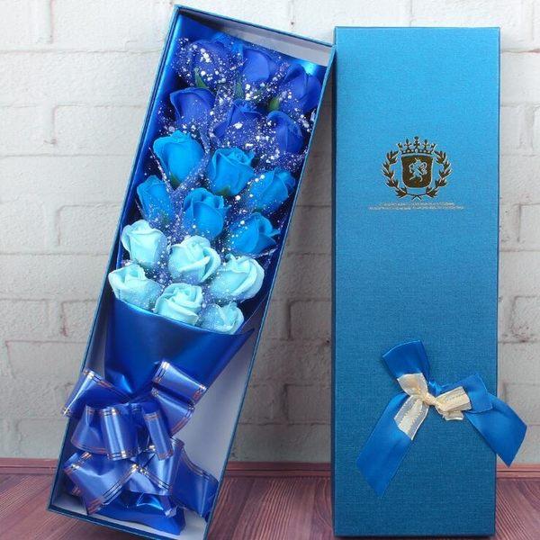 香皂花 禮品香皂玫瑰花束禮盒送老師同學閨蜜生日畢業禮物 - 歐美韓