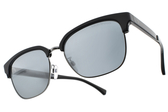 EMPORIO ARMANI 太陽眼鏡 EA2071D 50176G (黑槍-淡白水銀藍鏡片) 紳士眉框款 # 金橘眼鏡