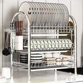 碗架瀝水架家用洗放碗碟盤子收納架廚房置物架不銹鋼色控水放碗架CY『小淇嚴選』
