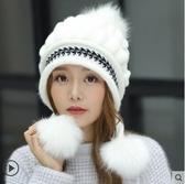 毛線帽子女冬天保暖