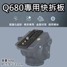 攝彩@Q680專用快拆板 快拆底板 Q90雲台專用 Q680三腳架快拆板 1/4英吋螺絲