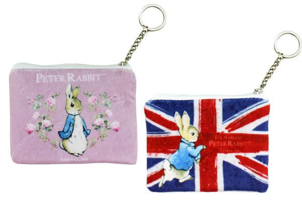 【卡漫城】 彼德兔 絨毛 零錢包 國旗 粉 2選1 ㊣版 拉鍊式 收納包 證件 票卡包 Peter Rabbit 比得兔