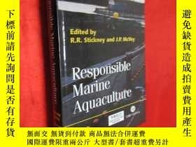 二手書博民逛書店Responsible罕見Mzrine Aquaculture