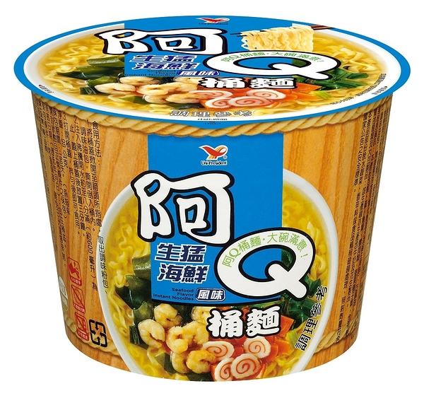 阿Q桶麵生猛海鮮風味(12碗/箱)【合迷雅好物超級商城】