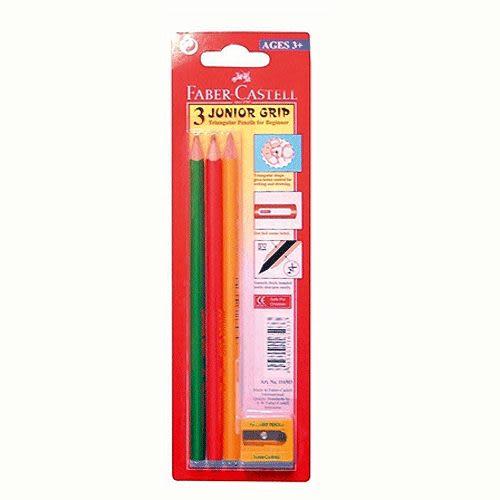 Faber-Castell大三角鉛筆 3支入+削筆器 *116503