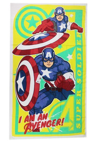 【卡漫城】 美國隊長 浴巾 ㊣版 Captain America 100%純棉 76x140cm
